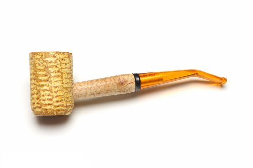 Missouri Meerschaum - Legend Corn Cob Tobacco Pipe - 5th Avenue, Bent Bit