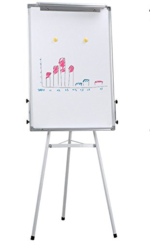 Universal Adjustable Dry Erase Easel, 23.6 x 35.4'' White Board, Silver Frame + FREE E-Book by Eight24hours