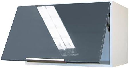 Berlenus CH6HG - Mueble Alto de Cocina para Cubrir la Campana (60 cm), Color Gris Brillante: Amazon.es: Hogar