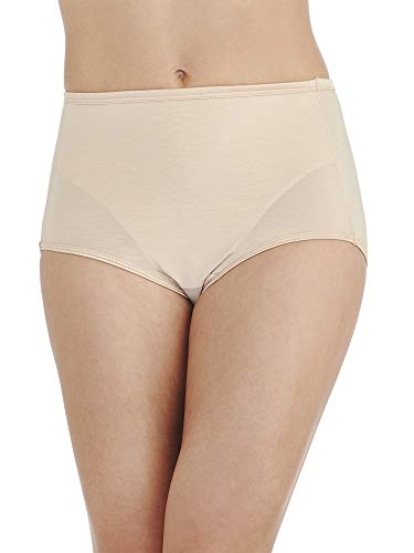 Vanity Fair Women's Smoothing Comfort Illumination Brief Panty 13263, Rose Beige, (Illumination Full Brief Panties)