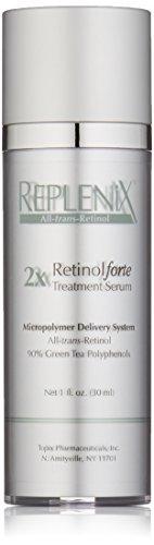 Replenix 2X RetinolForte Treatment Serum with Retinol and High Potency Antioxidants, Green Tea and Caffeine, for Fine Lines and Wrinkles, 1 Oz