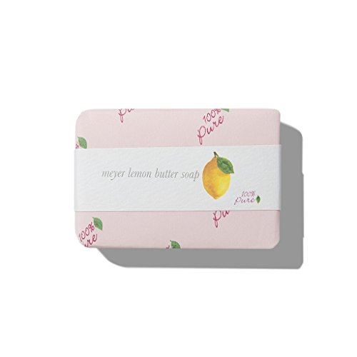- 100% PURE Butter Soap, Meyer Lemon, Organic Bar Soap, Body Wash, Made with Shea Butter, Coconut Oil, All Natural Soap for Anti-Aging Skin, Organic - 4.5 oz
