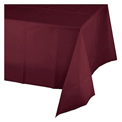 Creative Converting - Burgundy Plastic Tablecover 54X108 from Creative Converting
