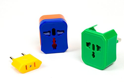 NOMAS Universal Travel Adapter with 4 Plugs - - Plug Adaptor India