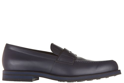 Tods Herren Leder Mokassins Slipper fondo light xx blu