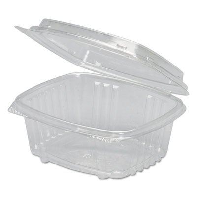 (Genpak AD12F Clear Hinged Deli Container, APET, 12 oz, 5 3/8 x 4 1/2 x 2 7/8 (Case of 200))