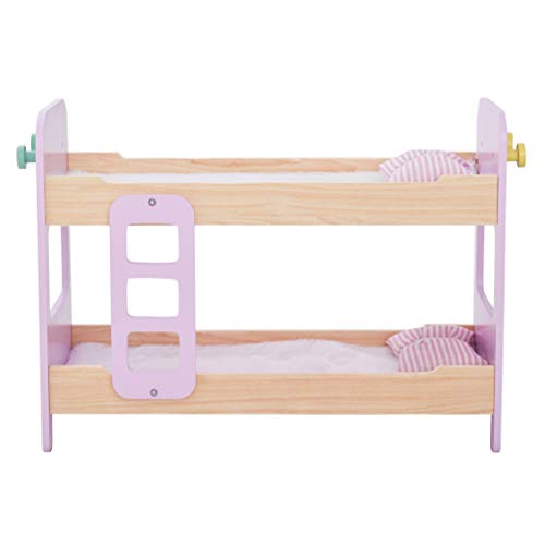 Olivia's Little World TD-12867A Modern Nordic Princess Doll Bunk Bed, Wood/Pink