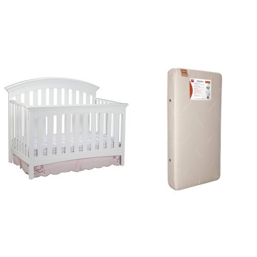 Delta Children Products Bentley 4 in 1 Crib and Simmons K...
