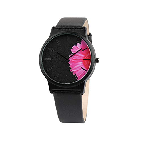 - HunYUN Designer Creative Simple Fashion Without Scale Casual Floral Print Dial Belt Quartz Female Watch Customized Gift