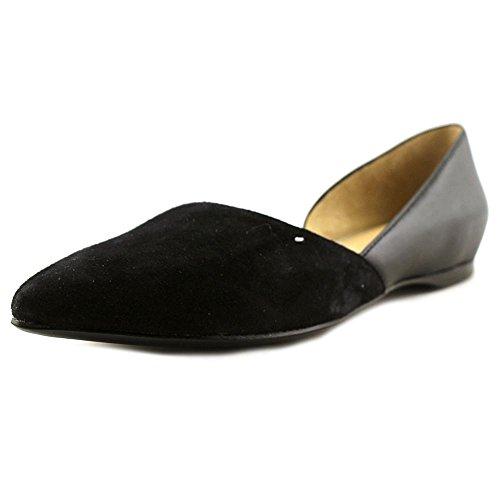 nicekicks online free shipping Naturalizer Women's Samantha Pointed Toe Flat Black Leather E8sk4