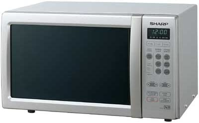 Sharp R 259 microwave oven silver in