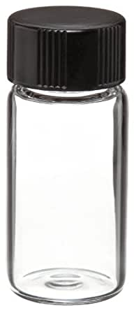 Wheaton Glass Shorty Vial, with Phenolic Rubber Lined Cap Attached