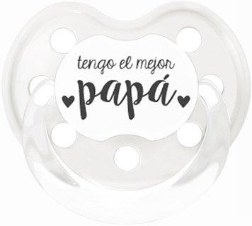 Pack Beb/é dia del Padre//Muselina 1x1 Papa chupete babero papi by Mimuselina