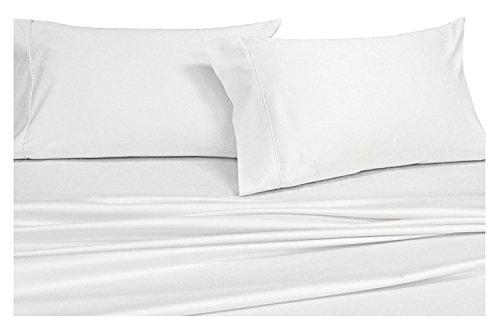 Precious Star Linen American Choice! Genuine 425 Thread count Egyptian Cotton Soft 2-Pieces Pillowcase White Solid/Plain (Oversize Queen {21 x 32 Incj}, Natural White)
