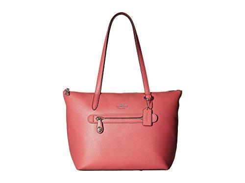 Coach Women's Pebbled Taylor Tote Sv/Peony Handbag