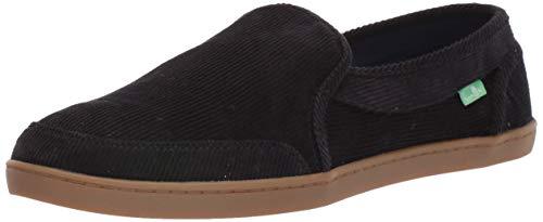 Sanuk Women's Pair O Dice Corduroy Shoe, Black, 9 M US