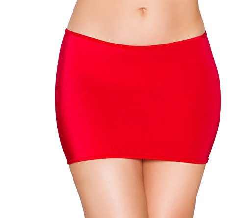 Sexy Women's Lycra Mini Skirt (Red) Sexy Lycra Mini Skirt