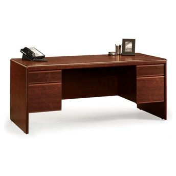 Sauder 404972 Executive Office Desk, Classic Cherry Finish