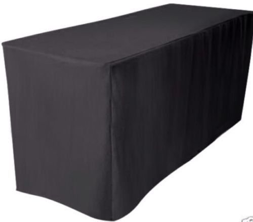 - Urby® 5' ft Fitted Polyester Table Cover Wedding Banquet Event Tablecloth BLACK