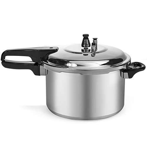 Barton 8-Quart Aluminum Pressure Cooker Stovetop Fast Cooker Pot Pressure Regulator Fast Cooking Steam Release Valve