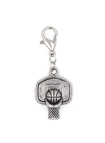 Basketball Goal Clip On Charm Perfect for Necklaces and Bracelets (ZC 101Ac)