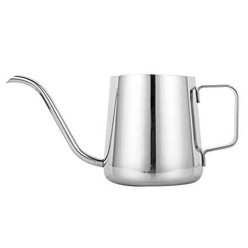 Gooseneck Coffee - TOP-MAX Long Narrow Spout Coffee Pot (12oz /350ML) - 304 Stainless Steel with Hanging Ear Hand Blunt Pouring Over Gooseneck Kettle for Coffee & Tea