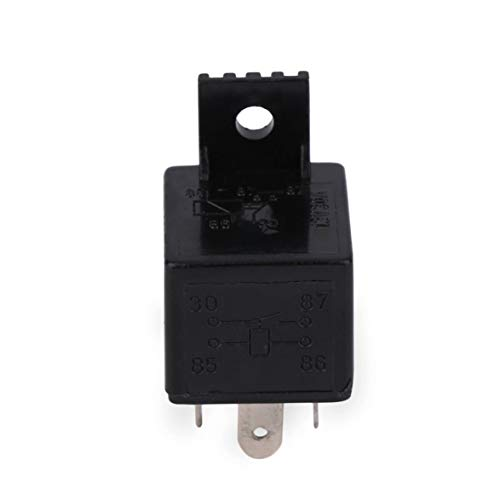 MqbY Auto Relay Universal 4 Pin DC 12V 30A Build-in Fuse Socket Car Relay for Electric Fuel Pumps/Electric Water - Pump Fuel 30a