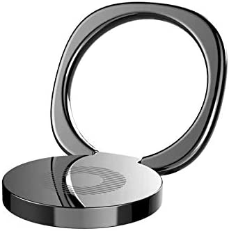 Silver Ultra Thin Slim Mobile Phone Ring Holder,EYMEN Phone Ring Holder Finger Kickstand EYMEN 360/° Rotation Metal Ring Grip for Magnetic Car Mount Compatible with All Smartphones