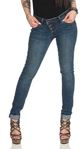 Vista Buena Mailbu Azul Terciopelo Mujer Elásticos Oscuro Vaqueros De 6xwqxdCT