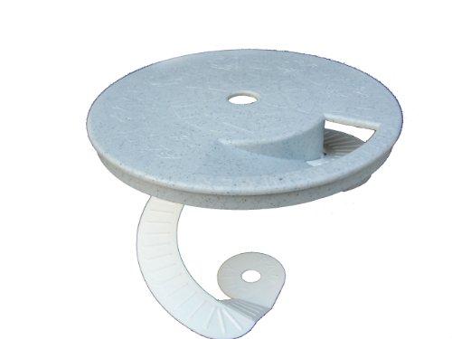 Critter Skimmer 9-Inch Round Pool Skimmer Cover, Gray