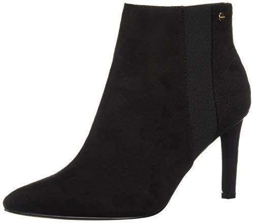 Calvin Klein Women's Bestie Ankle Boot, Black Microsuede, 8 M US ()