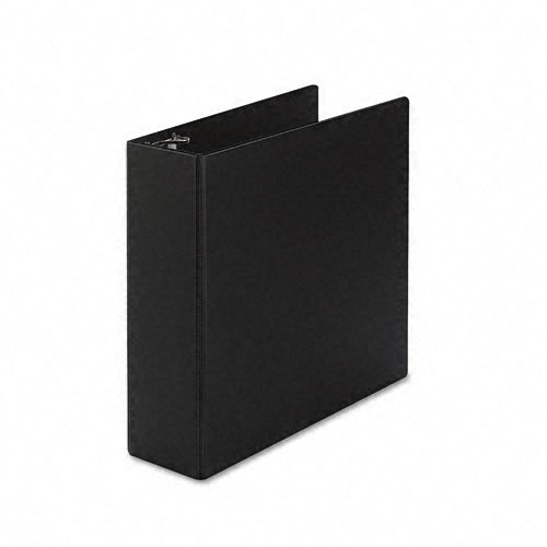 Avery Products - Avery - Durable Slant Ring Reference Binder, 4'' Capacity, Black - Sold As 1 Each - Gap Free™ feature prevents ring misalignment so pages turn smoothly. - Back-mounted slant rings hold up to 25% more sheets than same size round rings and by Avery (Image #3)