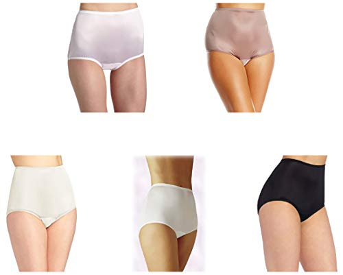 Vanity Fair Women's Perfectly Yours Ravissant Tailored Brief 15712, Star White/Walnut/Midnight Black/Fawn/Candleglow/Blushing Pink, X-Large/8 ()