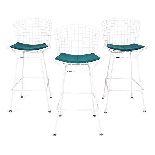 Knoll International Bortoia bar Chair Set Designer Metal Chair Armchair White Turquoise Chair Stool