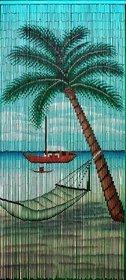 Bamboo 57 5285 Hammock Beach Scene Curtain