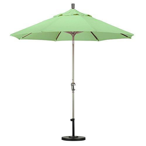 California Umbrella 9' Round Aluminum Market Umbrella, Crank Lift, Auto Tilt, Champagne (Deluxe Auto Tilt Umbrella)