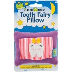 Rich Frog Girl Tooth Tooth Fairy Pillow and Tooth Keepsake, Pink - 4