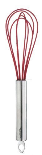 Cuisipro 8-Inch Silicone Egg Whisk, Red