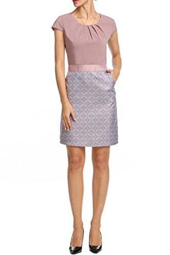 gray cap sleeve dress - 1