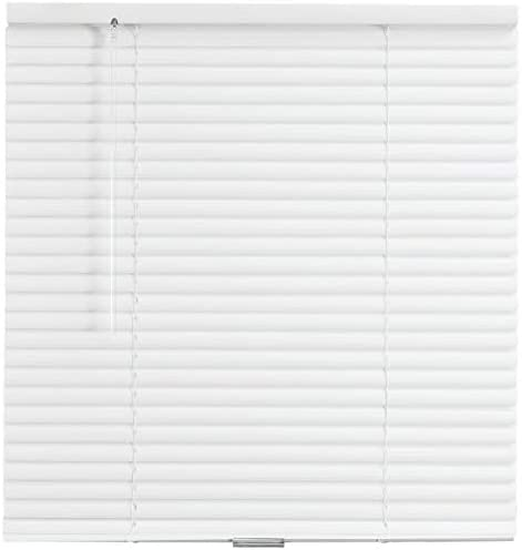LPS Lowpricesupply Actual Size: 45.5″ x 48″ Box May Printed 46″ x 48″ White 1″ Mini Vinyl Cordless Window Blind W x L