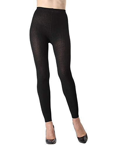 MeMoi Footless Ribbed Sweater Tights Burgundy MTE02237 ()