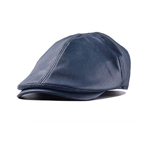 Leather Hat for Women Men Newspaperboy Hats Fashion Vintage Beret Flat Cap Newsboy Caps Street -