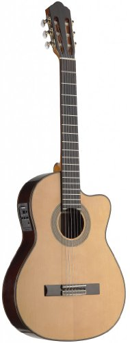 (Angel Lopez C1448TCFI-S 4/4 Thin Body Acoustic-Electrci Classical Guitar with FISHMAN Preamp)