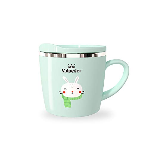 Kids Learning Cup, Baby Trainer Mug for Milk, Water, Coffee, Hot Chocolate, Juice, Smoothies, 7oz, Tiffany