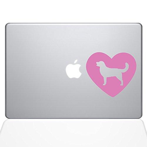 The Decal Guru Heart Golden Retriever Macbook Decal Vinyl St