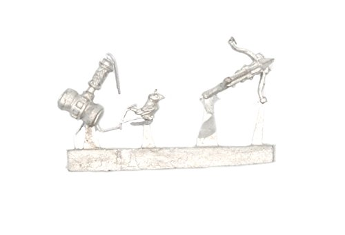 - Stonehaven Canary, Crossbow, and Throwing Hammer Accessories Miniature Figure for 28mm Table Top Wargames - Made in USA