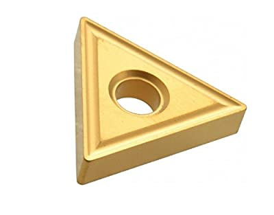 HHIP 2003-0021 1/4 Inch (I.C.) Tin Coated Triangular Carbide Insert, TPGH-21.51