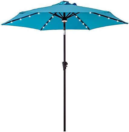 FLAME SHADE 7.5 ft Outdoor Patio Table Market Umbrella