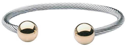 Sabona Two-Tone Wire Magnetic Wristband, L/XL, 1 -