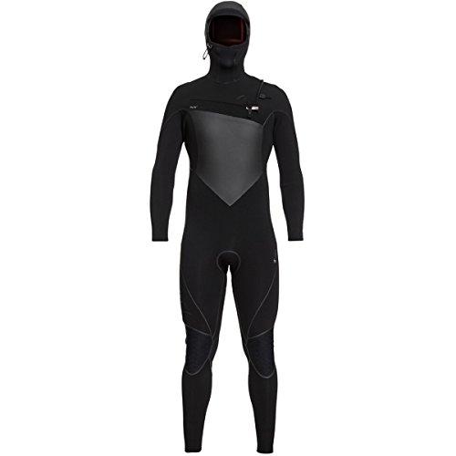 Fleece Hooded Wetsuit - Quiksilver 6/5/4mm Highline Plus Chest Zip Hooded Men's Full Wetsuits - Black/Medium Short